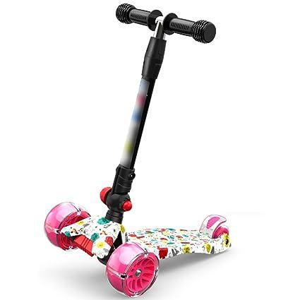 Patineta Vespa Plegable Scooter Plegable Scooter Scooter Scooter de Tres Ruedas para niños de 3-
