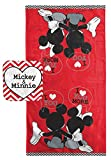 Disney Mickey Mouse/Minnie Mouse ''Luv U More'' Cotton 2 Piece Bath/Washcloth Set