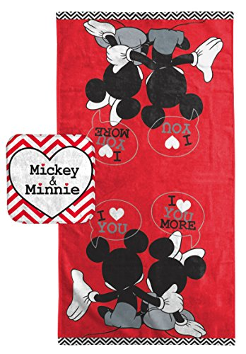 """Disney Mickey Mouse/Minnie Mouse """"Luv U More"""" Cotton 2 Piece"""