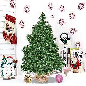 Goplus Christmas Tree Tabletop Artificial PVC Green Tree 2