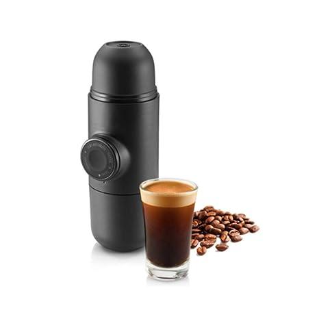 [Alta calidad] Diseño portátil de la máquina de café - Mini Espresso - Compatible con cualquier tipo de ...