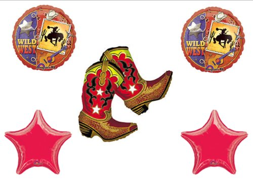 WILD WEST Rodeo Cowboy Horse BIRTHDAY PARTY Balloons Decorations Supplies for $<!--$14.49-->