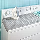 metal table top ironing board - Xhbear Portable Ironing Mat Blanket (Iron Anywhere) Ironing Board Replacement, Iron Board Alternative Cover,Quilted Washer Dryer Heat Resistant Pad, Ironing Board Covers