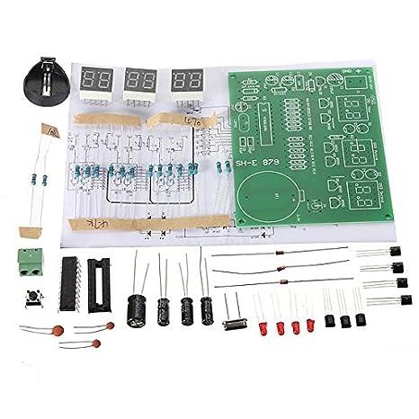 ILS - 5 Piezas de Bricolaje 6 Electrónico Digital LED Reloj Kit 9V-12V AT89C2051: Amazon.es: Electrónica