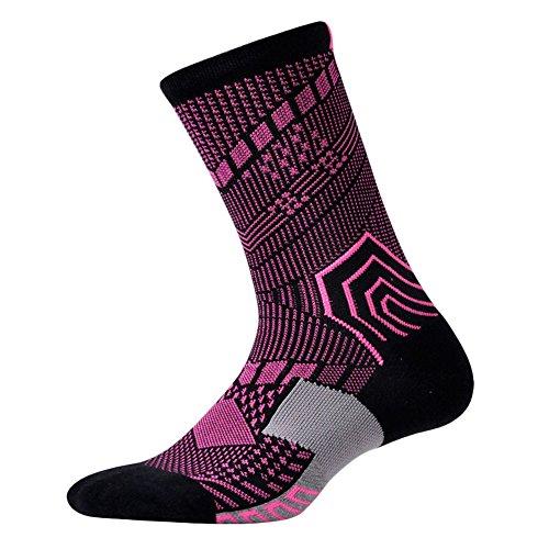 LOHOME Football Socks, Unisex Solid Cotton Socks Soccer Baseball Basketball Extended Stockings Socks Athlete Ribbed Thicken Bottom Socks Hockey Rugby Absorb Stockings for Summer (Pink)