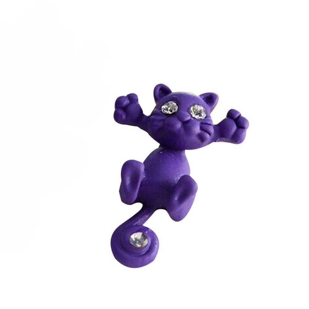 1 Pairs Gift Earrings, WoCoo Fashion Cute Cat Studs Earrings Statement Jewelry(Purple)
