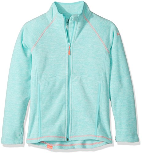 Roxy Big Girls' Harmony Polar Fleece Zip up Jacket, Aruba Blue, 16/XXL by Roxy