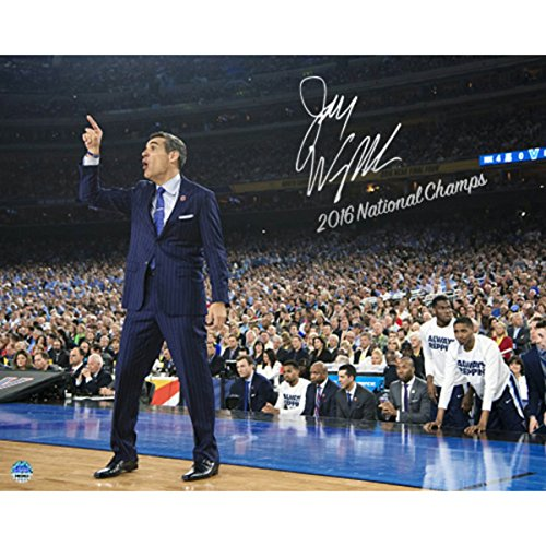 Steiner Sports Jay Wright Signed Sideline Point 2016 National Championship Game 8x10 Photo w/ ''2016 National Champs'' Insc by Steiner Sports