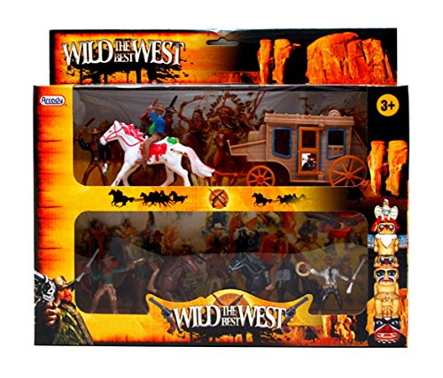 The Best Wild West Cowboys & Stagecoach Large Playset
