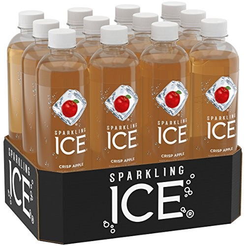 Sparkling Ice Crisp Apple Sparkling Water, with Antioxidants and Vitamins, Zero Sugar, 17 Ounce Bottles (Pack of 12) (Flavor Crisps)