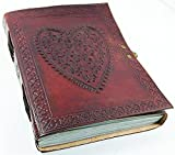 Purpledip Leather Diary / Journal / Notebook for Corporate Gift or Personal Memoir: Heart-to-Heart