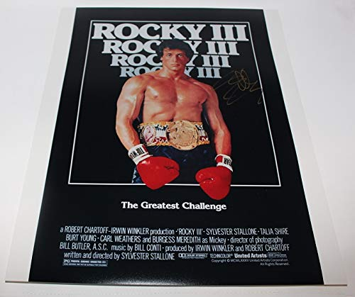 Rocky III Rocky Balboa Sylvester Stallone Signed Autographed 16x20 Glossy Poster Photo Loa