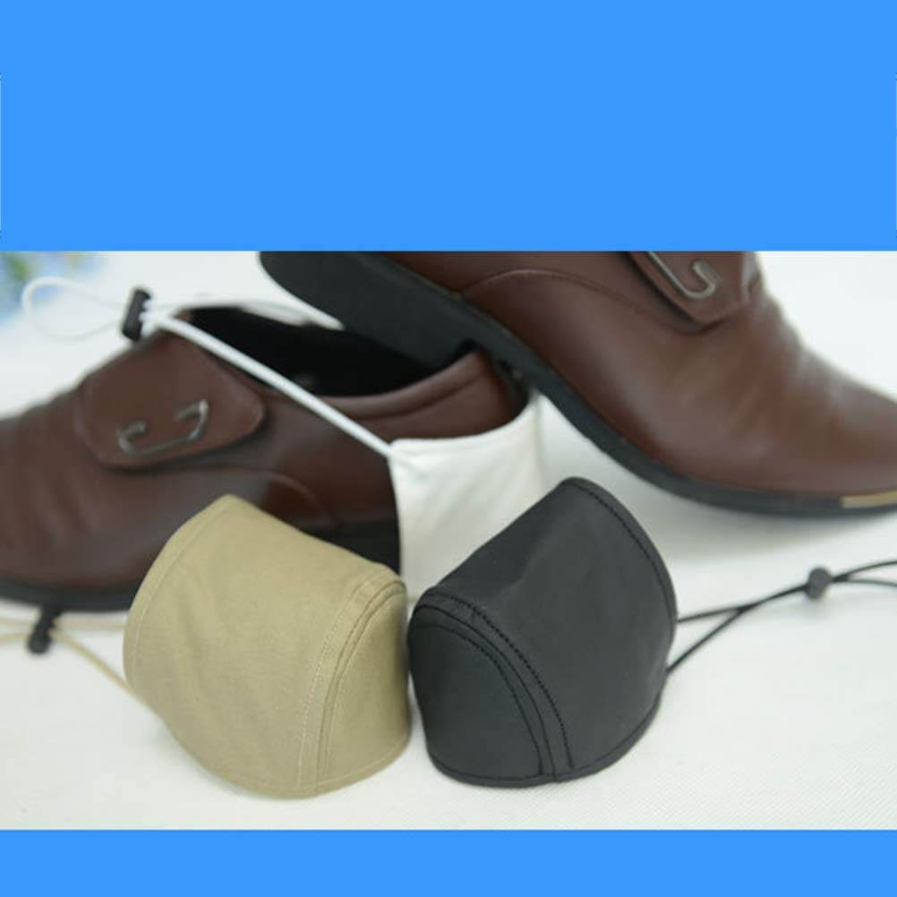 Vosarea Protection du Talon Conduite R/ésistant /à lusure Prot/ège-Chaussures de Conduite Couvre-Chaussure pour Talon de Conducteur 2 Pi/èces Noir Kaki