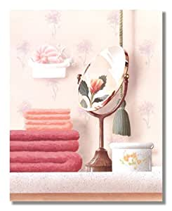 Towels mirror and soap bubbles bathroom photo for Bathroom paintings amazon