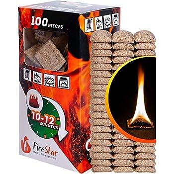 amazon com fire starter squares 100pc fire starters for fireplace rh amazon com fireplace fire starter pot fireplace fire starters homemade