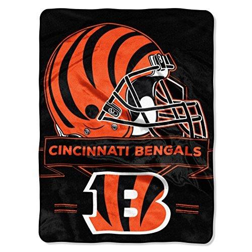 Northwest 0807 NFL Cincinnati Bengals Prestige Plush Raschel Blanket, 60