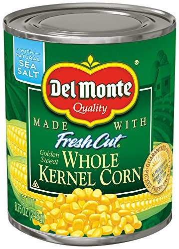 (Del Monte Canned Fresh Cut Golden Sweet Whole Kernel Corn, 8.75-Ounce (Pack of 12))