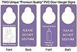 """Two Unique Premium Quality Door Hangers: One""""Please Knock Baby Nursing"""" /""""Please Do Not Disturb"""" and One""""Please Knock Pumping in Progress"""" /""""Please Do Not Disturb"""" Double-Sided Door Sign Hangers"""
