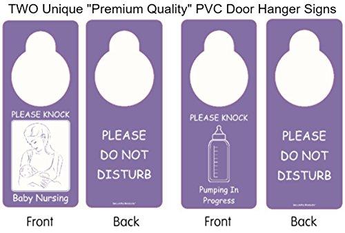 Pump Sign - Two Unique Premium Quality Door Hangers: One