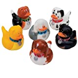 : Fun Express - One Dozen Dog Rubber Duckys (1-Pack of 12)