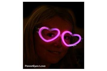 1 paire de Lunettes Fluo Coeur Rose - idéal pour vos soirées  Amazon ... 86a6c5141147