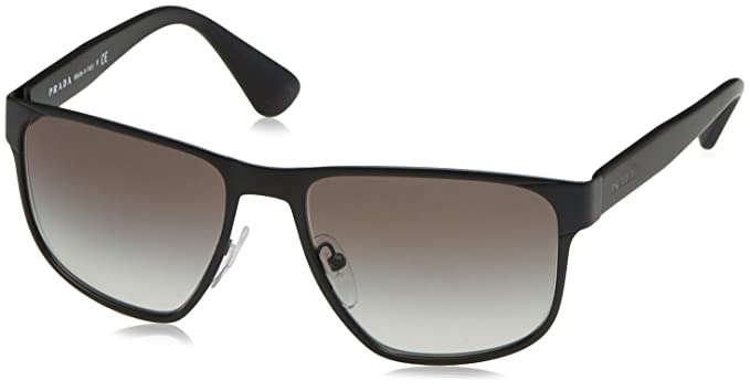 22c71cb11d0d7 Image Unavailable. Image not available for. Color  Prada Men s PR 55SS Sunglasses  Matte Grey   Grey Gradient 55mm