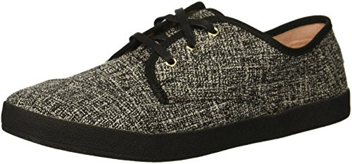 (TOMS Women's Paseo Sneaker, Black Two-Tone Woven, 9 Medium US)