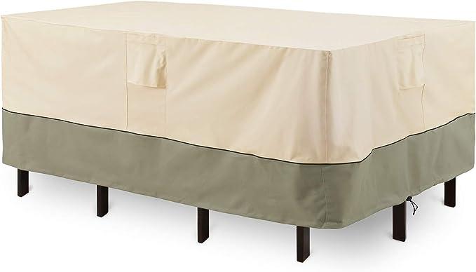 170 * 95 * 71cm Viflykoo Funda para Muebles de Jard/ín,Copertura Impermeable para Mesas Rectangular,Cubierta de Exterior Funda Protectora Muebles Mesas Sillas Exterior 420D Oxford