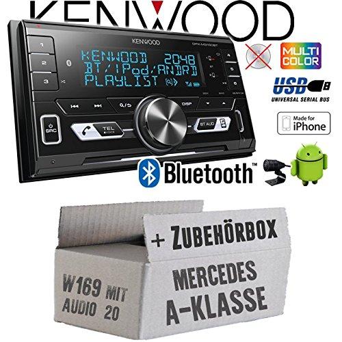 Mercedes A-Klasse W169 Audio 20 - Autoradio Radio Kenwood DPX-M3100BT - 2-Din Bluetooth USB VarioColor Einbauzubehö r - Einbause JUST SOUND best choice for caraudio MBW169A20_DPX-M3100BT