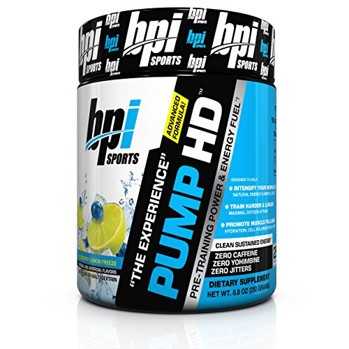 Pre Training (BPI Sports Pump HD Pre-Training Power and Energy Fuel Powder, Blueberry Lemon Freeze, 8.8 Ounce)