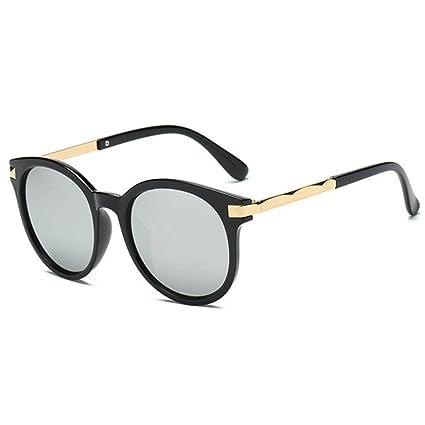 BiuTeFang Gafas de Sol Mujer Hombre Polarizadas Moda Hombres y Mujeres Gafas de Sol Retro Personalidad