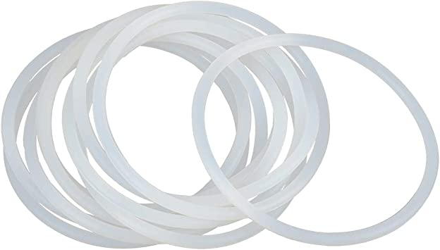 X AUTOHAUX 5pcs White Silicone Rubber O-Ring Seal Gasket for Car 80mm x 4mm