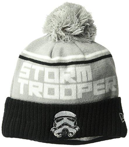New Era Cap Men's Young Storm Trooper Jumbo Cheer Pom Knit Beanie Hat, Black, One Size