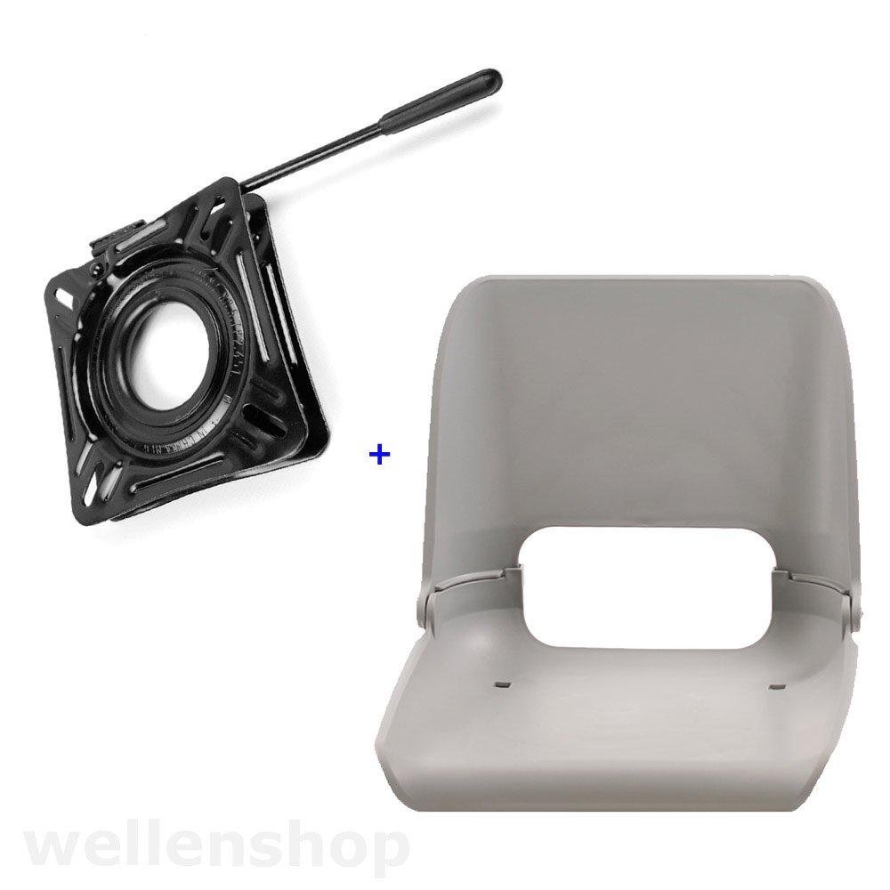 wellenshop Bootssitz Kunststoff klappbar ABYC und arretierbare Drehkonsole