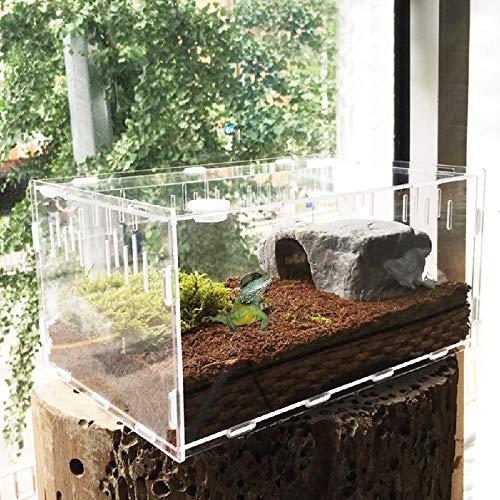 FidgetGear Reptile Cage Breeding Box Tarantula Insect Lizard Snake Amphibian Frog New L by FidgetGear