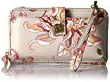 Elliott Lucca Theo Large Smartphone Crossbody, Peach Wildflower