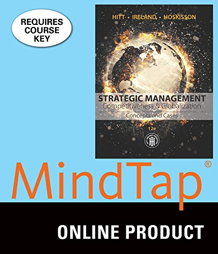 MindTap Management for Hitt/Ireland/Hoskisson's Strategic Management: Concepts and Cases: Competitiveness and Globalization, 12th Edition