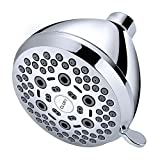CLOFY 6-Setting Shower Head with High Pressure, Water Saving Showerhead Multi-Layer Chrome Finish, Acid Salt Spray Test Appearance Standards, Cycle Tested to Ensure Lasting Over 10-Year