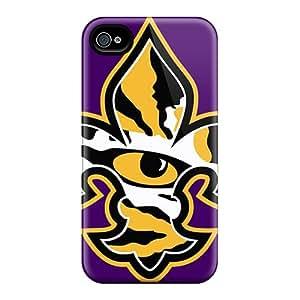 RudyPugh Iphone 4/4s Scratch Protection Phone Covers Unique Design Fashion Lsu Tiger Eye Series [quS18920hNdU]