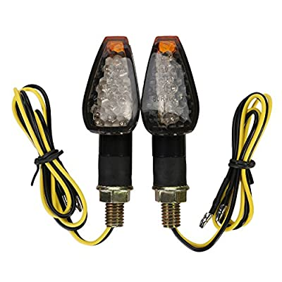 OSAN Motorcycle LED Turn Signals Indicators Blinkers Lights(Black Cover): Automotive