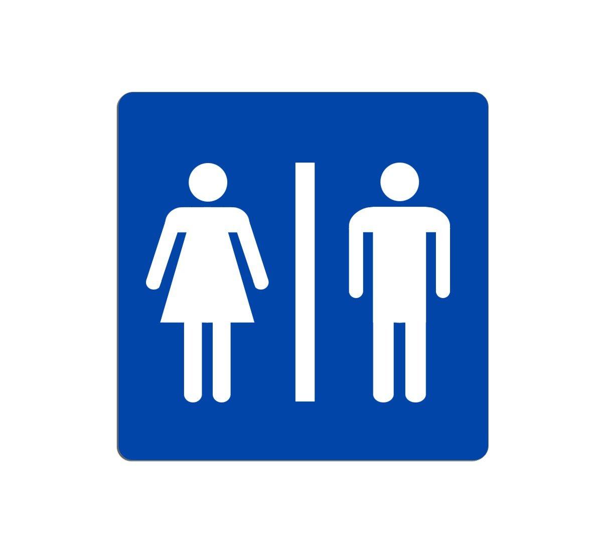 takestop® CARTELLO UOMO DONNA SEGNALETICA WC TOILETTE BAGNO TARGA ...
