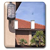 3dRose Jos Fauxtographee- St.George Hotel - A close up of a light on a column at a Hotel in St. George Utah - Light Switch Covers - double toggle switch (lsp_293360_2)