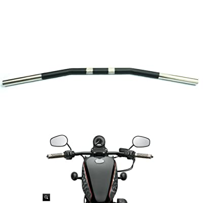 Alpha Rider Drag Style Steel Handlebars Drag Bar Dimpled for Harley Sportster 883 1200 Nightster 07-later XL 1 inch: Automotive