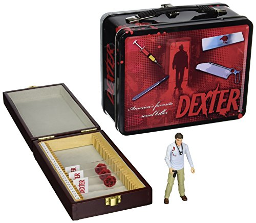 Dexter SDCC 2013 San Diego Comic-Con Exclusive 3 3/4 Inch Action Figure, Tin Tote & Blood Slide Box - Exclusive Tin