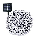 Esky Solar Fairy Lights, 17m 55ft 100 LED Outdoor Christmas Lights String Light for Patio, Garden, Party, Wedding(White)