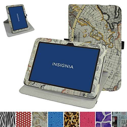 Insignia NS-P10A7100 Rotating Case,Mama Mouth 360 Degree Rotary Stand with Cute Cover for 10.1
