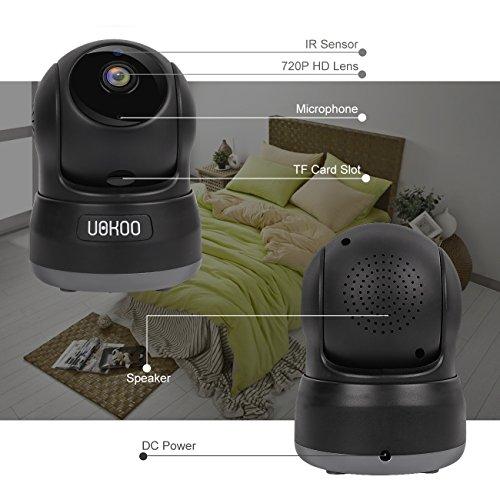 Wireless Security Camera, 720P HD Home WiFi Wireless IP Security Surveillance Camera System (black)