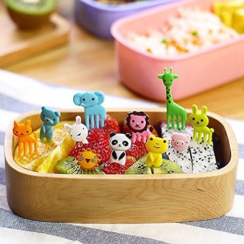Pink Lizard Mini Cartoon Zoo Animal Fruit Fork Resin Toothpick Decorative Plastic Forks Cutlery Set - Decorative Toothpicks