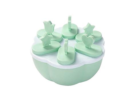 Molde de la galleta Flor en Forma de moldes de Hielo plástico Lolly Frozen Ice Cream