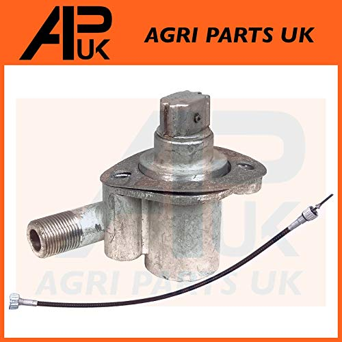 Tachometer Angle Drive Unit 4 Cyl + Rev Drive Speedo Cable compatible with Massey Ferguson 35 X 35X Tractor: